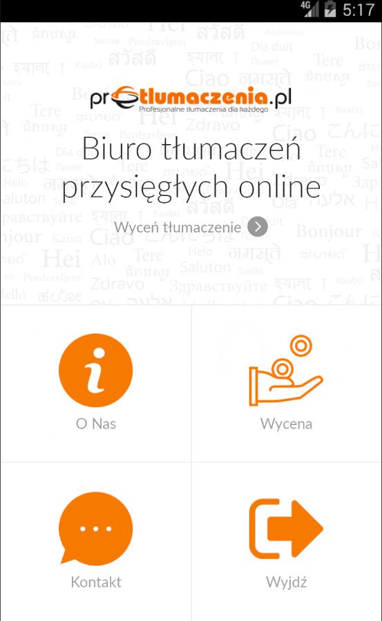 Aplikacja Android – Biuro tłumaczeń online